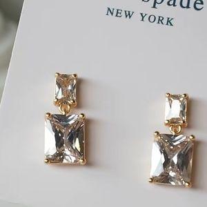 Kate Spade earrings crystal pendant earrings